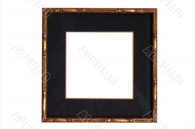 Gold Wooden Frame With Black Mat