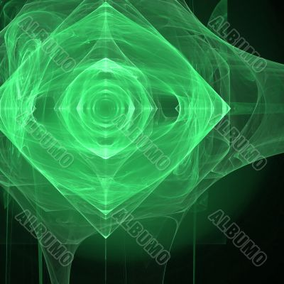 Abstract background. Black - green palette.