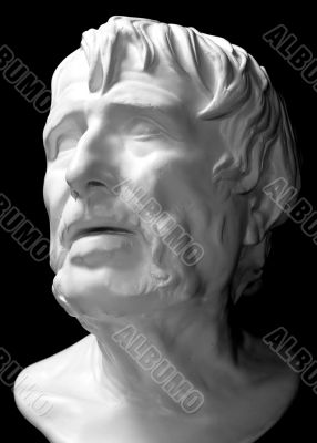 Plaster head of the ancient Greek