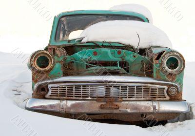 Old car is broken
