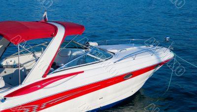 White luxurious yacht
