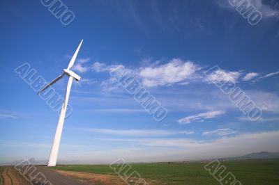 Wind powered electricity generator