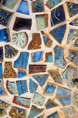 Broken mosaic tile background
