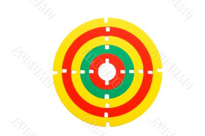 Toy rubber target