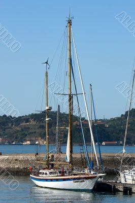 sailing boat in harbor