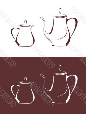 Coffee pot and cream jug