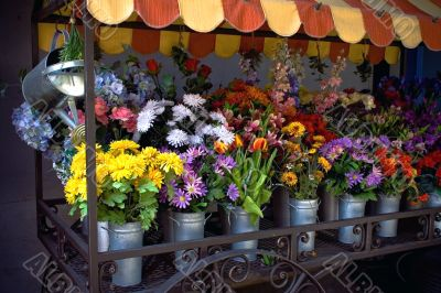 Bouquets of multicolored flowers for sale