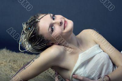 Nice emo model with braids
