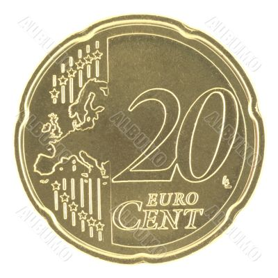 Uncirculated 10 Eurocent new map