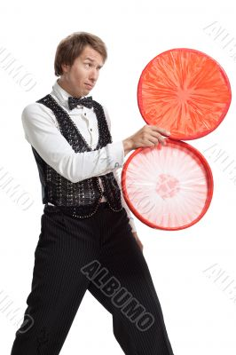 Juggler with his properties
