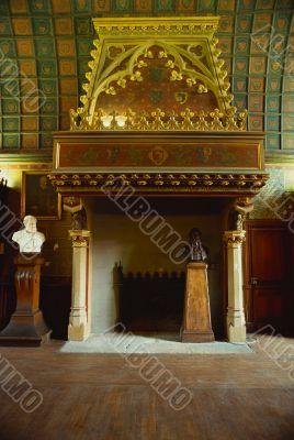grand fireplace. interior