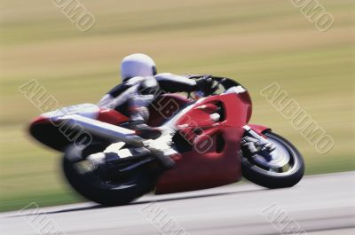 Motorcycle Racing. blurry view
