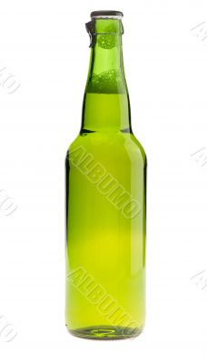 bottle of lager beer. Isolated with clipping path