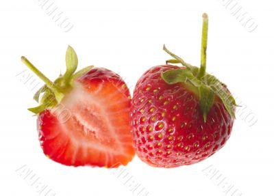 fresh tasty strawberry on white background