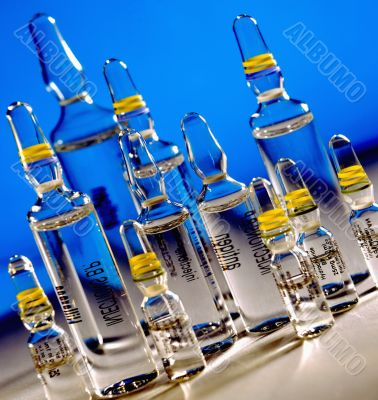 Ampoules. Medicine equipment