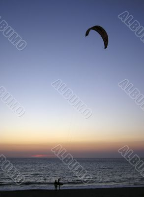 Paragliders Sunset