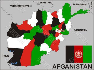 Afghanistan Political Map