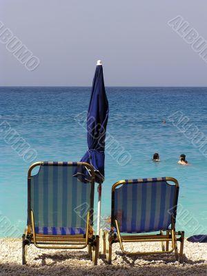 Sunbeds at Seashore