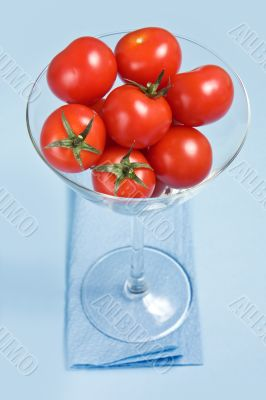 Cherry tomatoes in glass