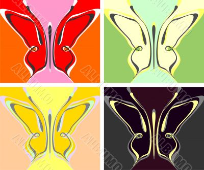 Butterfly abstract pattern - vector background