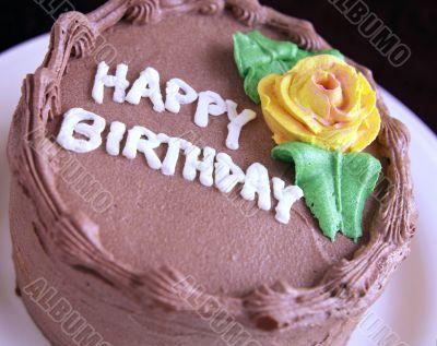 Birthday Cake. Chocolate