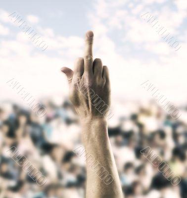 Giving the Finger tu public