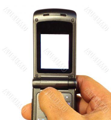 black phone with blank display