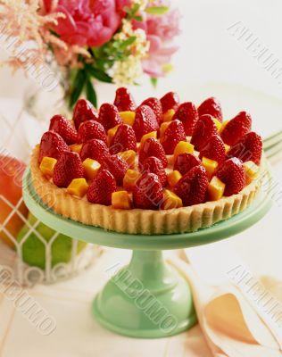 Strawberry and Mango Tart