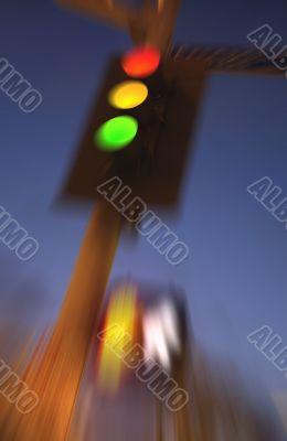 Blurry Traffic Light