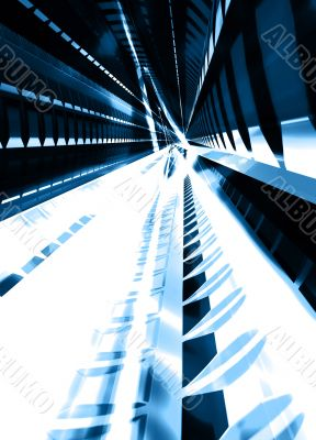 Light Rails. Abstract background