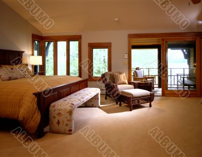 Bedroom. Interior and living space