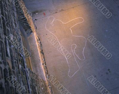 Victim`s Chalk Outline