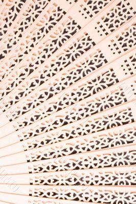 wooden fan detail