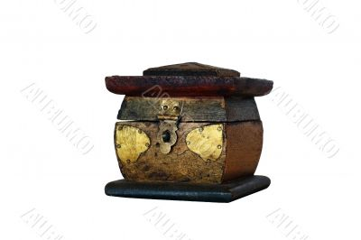 isolated wooden box