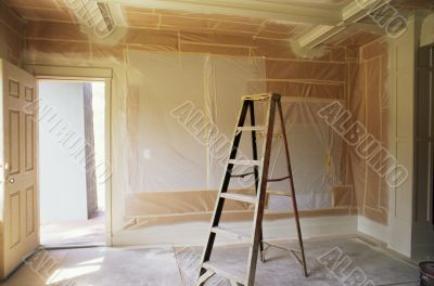 Interior Room Being Painted