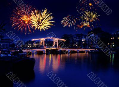 Amsterdam fireworks, Holland