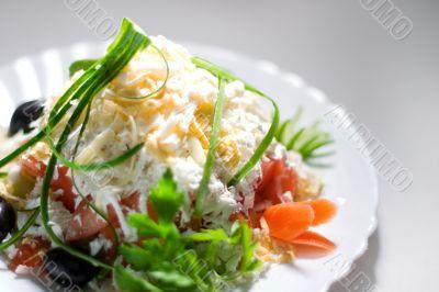 Greek shepherd`s salad