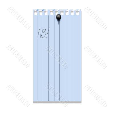 Notebook leaf