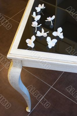 Petals on a table