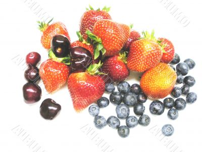 strawberries, cherries,blueberries in  Florida