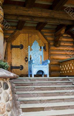 Antique wooden throne
