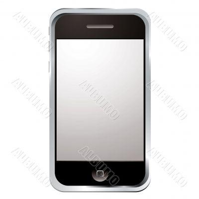techno phone silver