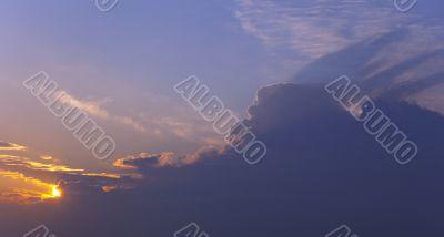 Clouds on sky / sunset panorama