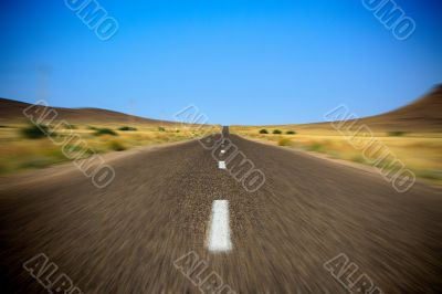 fast empy road