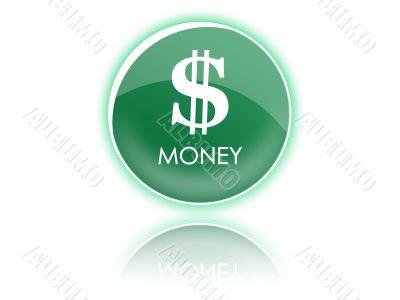 Dollar green button