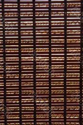 Striped wooden blind background