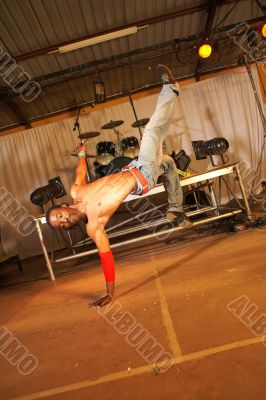 African freestyle hip-hop dancer