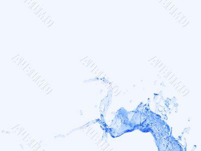 Isolated water splash