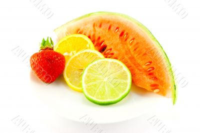 Citrus Fruit with Strawberry and Melon