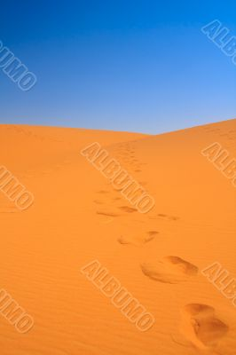 walking on sand dunes